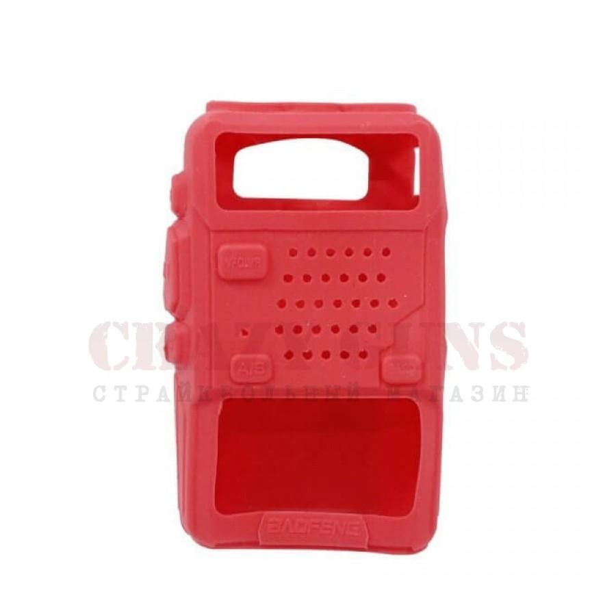 Бампер (чехол) резиновый для UV-5R. красный