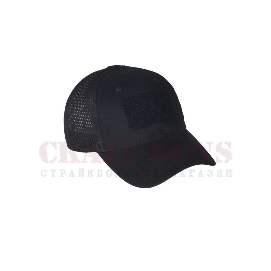Кепка с велкро сеточка (черная)