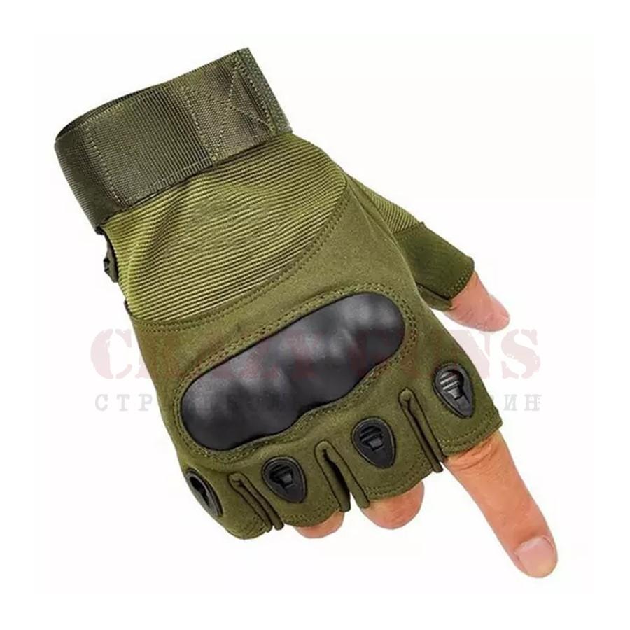 Перчатки Oakley csa (без пальцев) Green. XXL