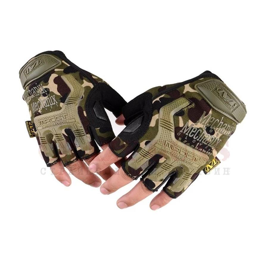 Перчатки реплика Adventure-mechanix (камуфляж) безпалые