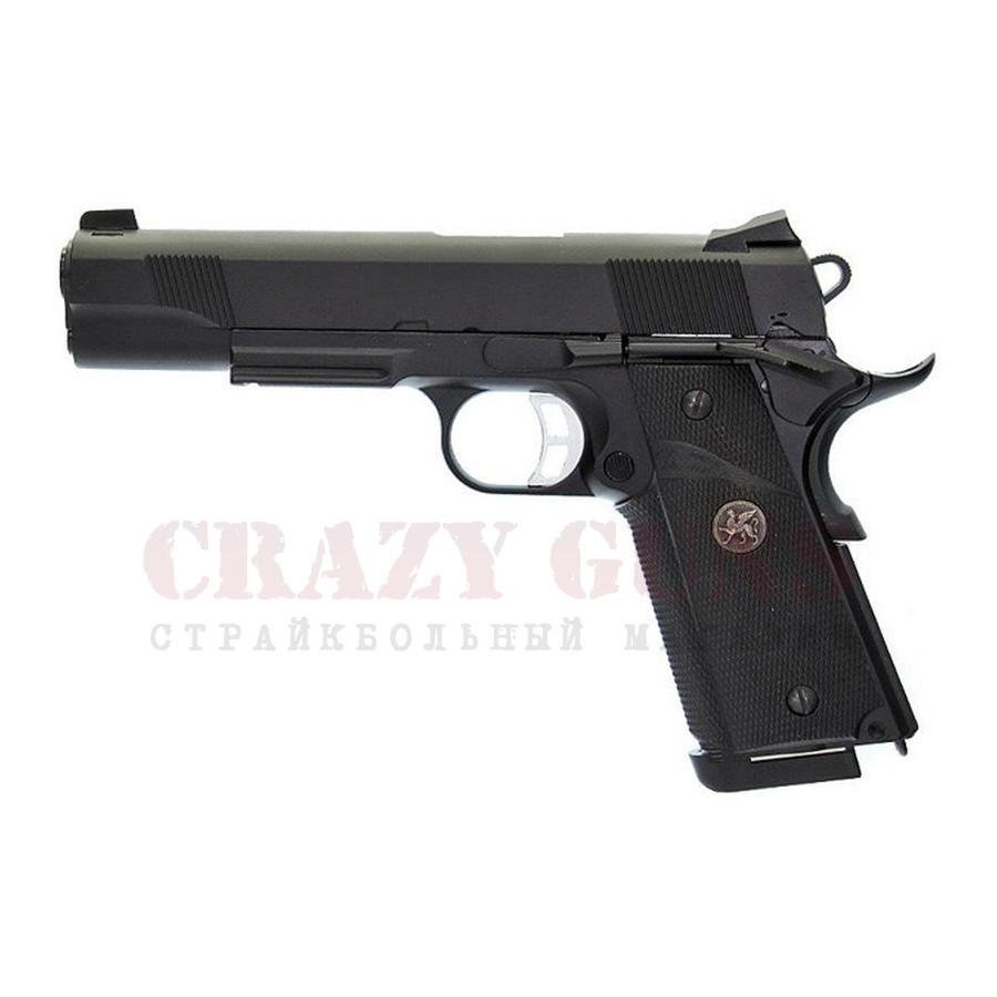 ПИСТОЛЕТ ПНЕВМ. KJW COLT M1911 M.E.U. GBB, GAS, черный, металл, модель - KP-07.GAS