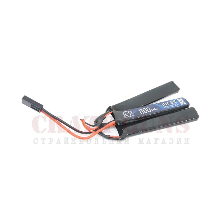 АКБ BlueMAX 11.1V Lipo 1100mAh 20C triple 3x (5.2x21x102)