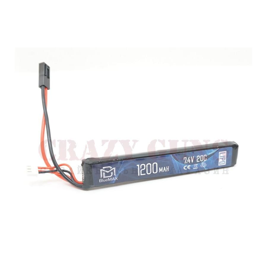 АКБ BlueMAX 7.4V Lipo 1200mAh 20C stick (13.3x21x128)
