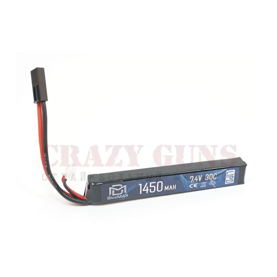 АКБ BlueMAX 7.4V Lipo 1450mAh 30C stick (15x16.5x115)