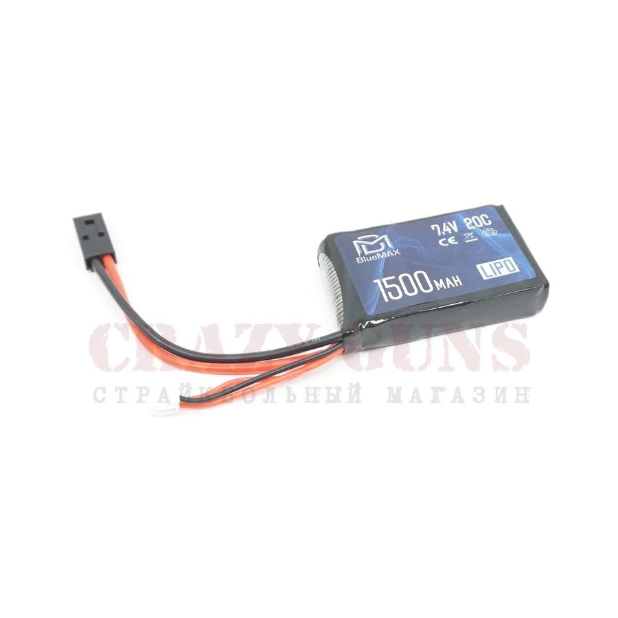 АКБ BlueMAX 7.4V Lipo 1500mAh 20C stick (PEQ/AN-15) 16x43x65