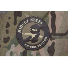 ШЕВРОН ПАТЧ на липучке Midget Ninja AK код MSM patch-00195-desert