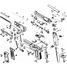 KJW M9 поршень газовой камеры в сборе Part 23,24