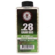 Шарики G&G 0,28 трассер зеленый ( 2700 шт., бутылка ) (групповая тара 24 бутылки) - G-07-268