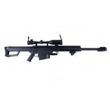 ВИНТОВКА ПНЕВМ. BARRET M82A1 CQB SNOW WOLF AEG, металл, пластик, оптика 3-9X50E, сошки QL-82 SW-02A CQB (BLACK)