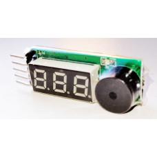 Тестер - индикатор напряжения для Li-Po / Li-Fe аккумуляторов AS-BA0051